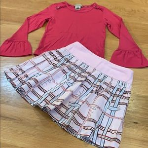 Burberry Winter Berry Flair Sleeve Top ~ Size 5-6